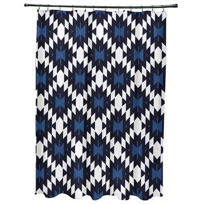 Willa Jodhpur Kilim Geometric Print Shower Curtain Color: Navy Blue