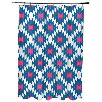 Willa Jodhpur Kilim 2 Geometric Print Shower Curtain Color: Blue
