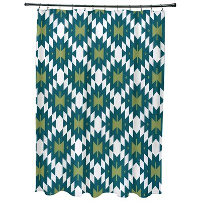 Willa Jodhpur Kilim 2 Geometric Print Shower Curtain Color: Teal