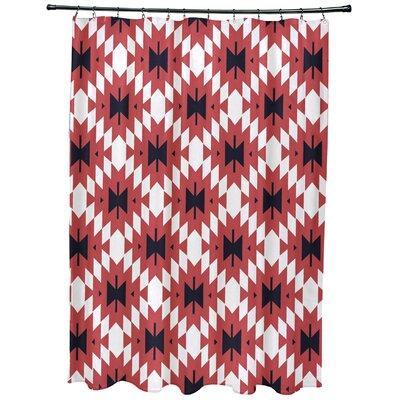 Willa Jodhpur Kilim 2 Geometric Print Shower Curtain Color: Coral
