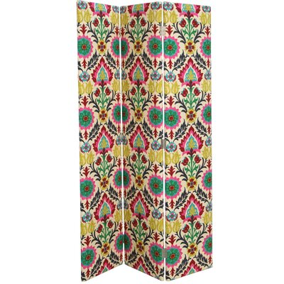 Mansour 3 Panel Room Divider Color: Desert Flower