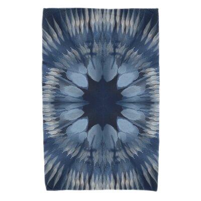 Armstrong Shibori Burst Beach Towel Color: Navy Blue