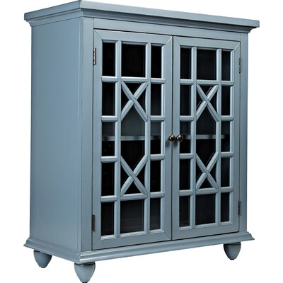 Dacey Accent Cabinet Color: Cornflower Blue / Gray