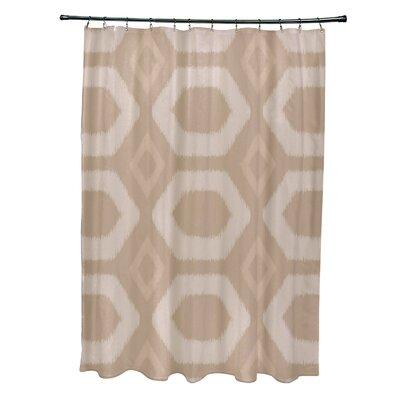 Anita Geometric Shower Curtain Color: Beige/Taupe