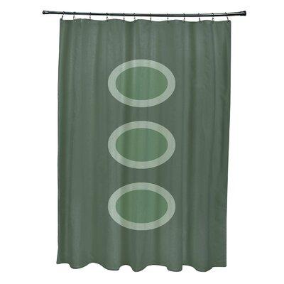 Katrina Geometric Shower Curtain Color: Green