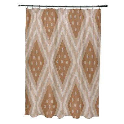 Arlington Geometric Shower Curtain Color: Beige/Brown