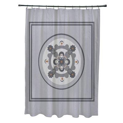 Anita Geometric Shower Curtain Color: Gray/Dark Gray