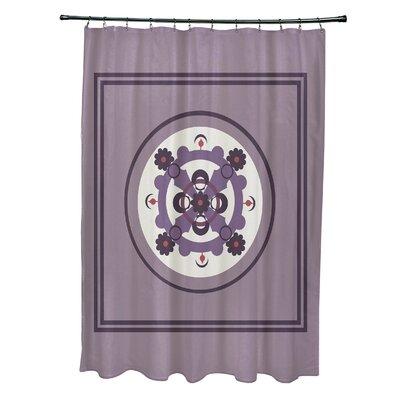 Anita Geometric Shower Curtain Color: Purple