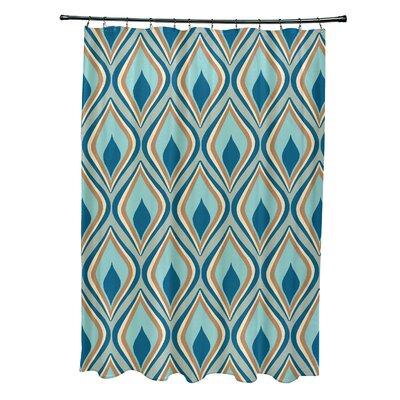 Menara Geometric Shower Curtain Color: Green/Teal