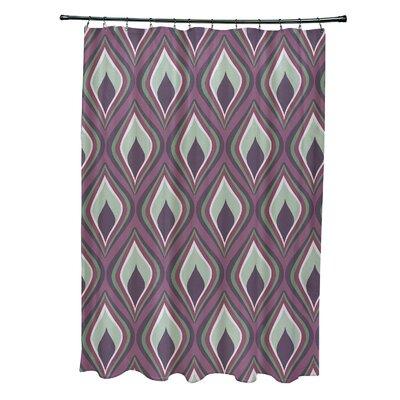Menara Geometric Shower Curtain Color: Purple