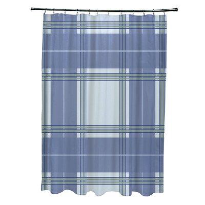 Menara Plaid Shower Curtain Color: Light Blue/Blue