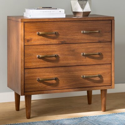 Cope 3 Drawer Chest Color: Medium Wood