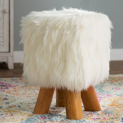 Houston Accent Stool Color: White