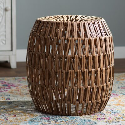 Lanier Wicker Stool Finish: Brown
