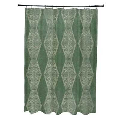 Soluri Pyramid Print Shower Curtain Color: Green