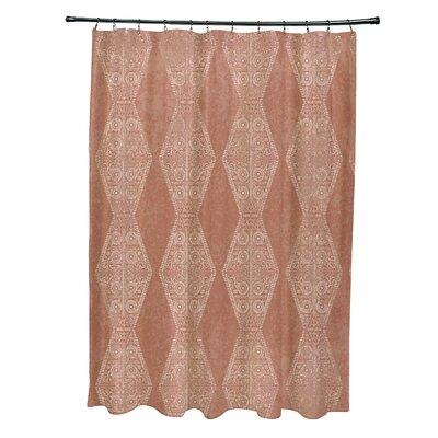 Soluri Pyramid Print Shower Curtain Color: Orange