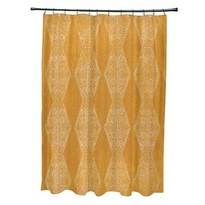 Soluri Pyramid Print Shower Curtain Color: Gold