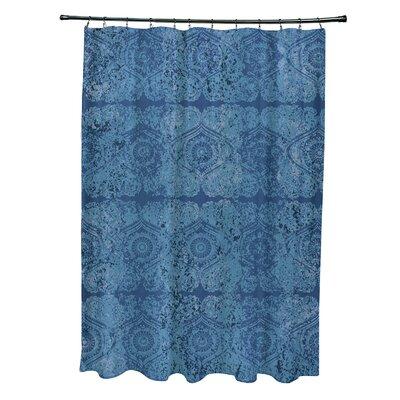 Soluri Patina Geometric Print Shower Curtain Color: Blue