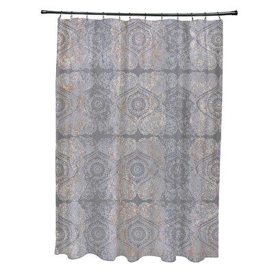 Soluri Patina Geometric Print Shower Curtain Color: Gray