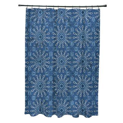 Soluri Sun Tile Print Shower Curtain Color: Blue