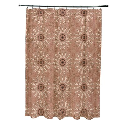 Soluri Sun Tile Print Shower Curtain Color: Taupe