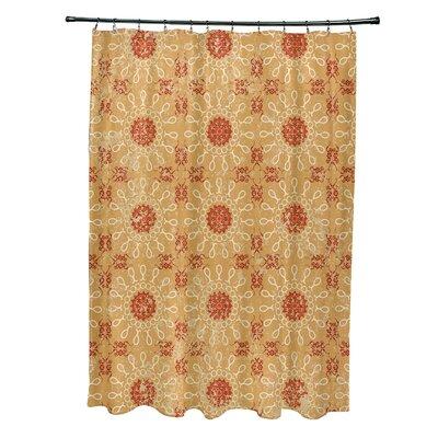 Soluri Sun Tile Print Shower Curtain Color: Gold