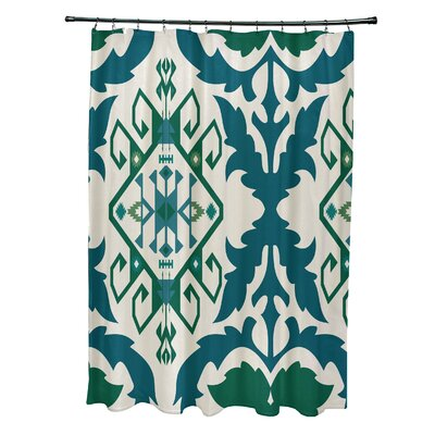 Soluri 6 Print Shower Curtain Color: Teal
