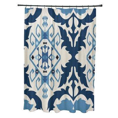 Soluri 6 Print Shower Curtain Color: Navy Blue