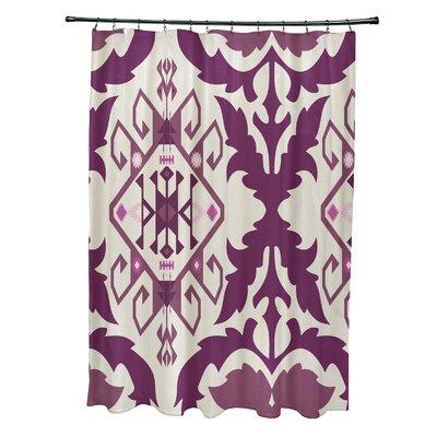 Soluri 6 Print Shower Curtain Color: Purple