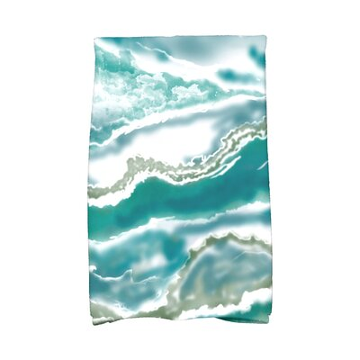 Soluri Remolina Abstract Hand Towel Color: Teal