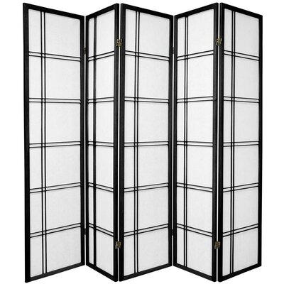 Marla 5 Panel Room Divider Color: Black