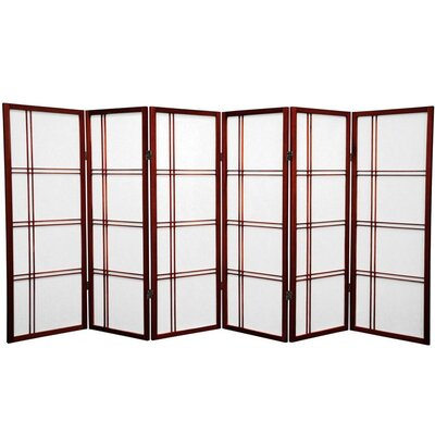 Marla 6 Panel Room Divider Finish: Rosewood