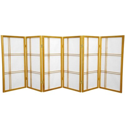 Marla 6 Panel Room Divider Finish: Honey