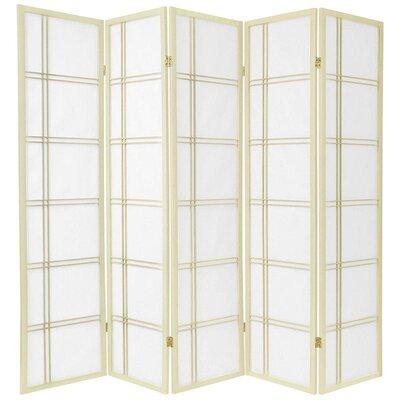 Marla 5 Panel Room Divider Color: Ivory