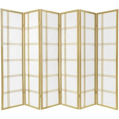 Marla 6 Panel Room Divider Color: Gold