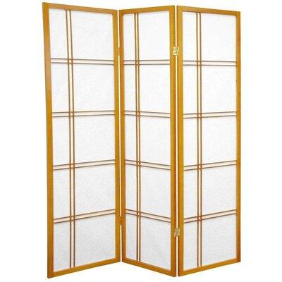 Marla 3 Panel Room Divider Color: Honey