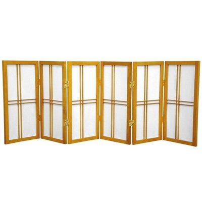 Marla 6 Panel Room Divider Finish: Honey