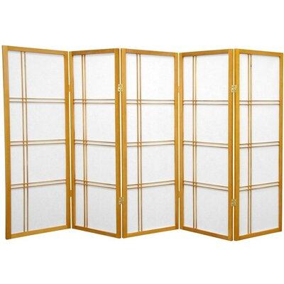 Marla 5 Panel Room Divider Finish: Honey