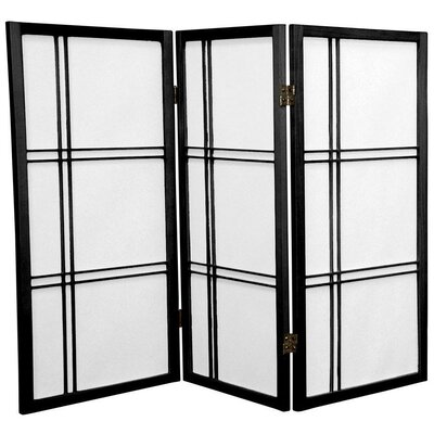 Marla 3 Panel Room Divider Finish: Black