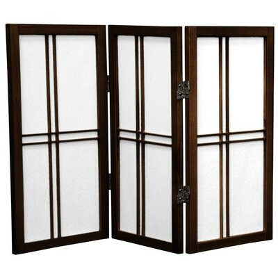 Marla 3 Panel Room Divider Finish: Walnut