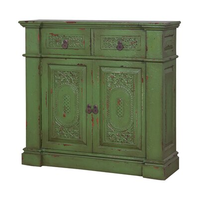 Marcella Vintage Hall 2 Door 2 Drawer Accent Cabinet