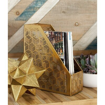 Merino Modern Geometric Lattice Design Open Box Magazine Rack