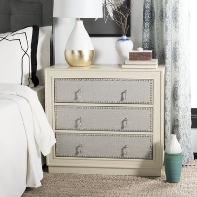 Castleberry 3 Drawer Accent Chest Color: Gray Linen