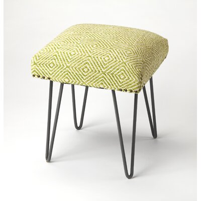 Eduard Accent Stool Upholstery: Green
