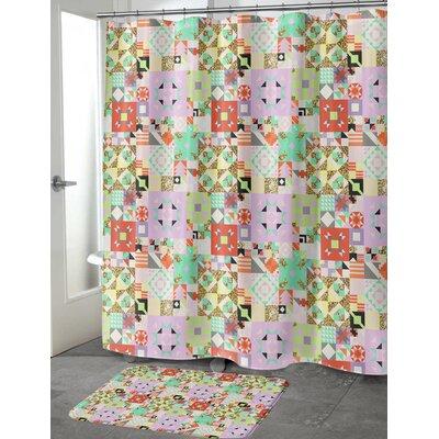 """Chrisman Shower Curtain Size: 70"""" H x 90"""" W, Color: Orange"""