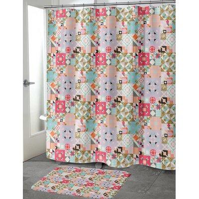 "Chrisman Shower Curtain Size: 70"" H x 90"" W, Color: Red"