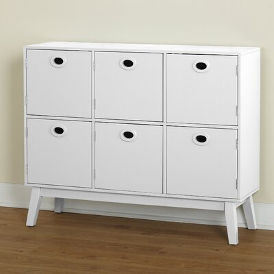 Verona 6 Door Accent Chest Color: White