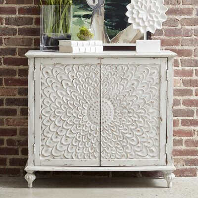 Edgeworth Carved Front 2 Door Accent Cabinet