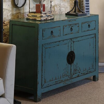 Brookleigh Antiqued 2 Door 3 Drawer Accent Cabinet