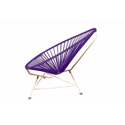 Borquez Papasan Chair Color: Copper, Upholstery: Purple Coal